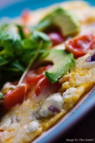 Feta rucola tomato Omelette